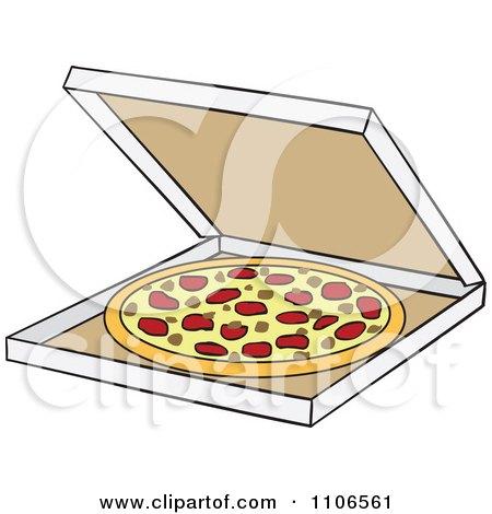 royalty free rf pizza box clipart illustrations vector graphics 1 rh clipartof com Pizza Box Clip Art Black and White Pizza Box Clip Art Black and White
