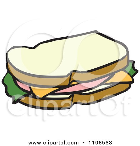 Royalty-Free (RF) Ham Sandwich Clipart, Illustrations ...