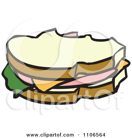 Clipart Bologna Sandwiches Royalty Free Vector