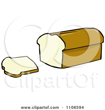 clipart loaf of bread and slice royalty free vector illustration rh clipartof com  free clip art loaf of bread