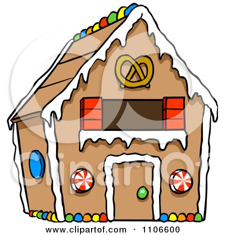 Clipart Gingerbread Home - Royalty Free Vector Illustration by Cartoon Solutions