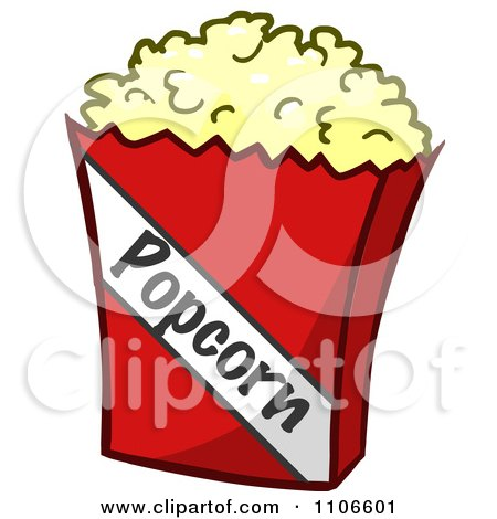 Clipart Bag Of Movie Popcorn - Royalty Free Vector Illustration by Cartoon Solutions