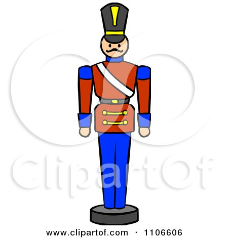 Clipart Christmas Nutcracker Toy Soldier - Royalty Free Vector ...
