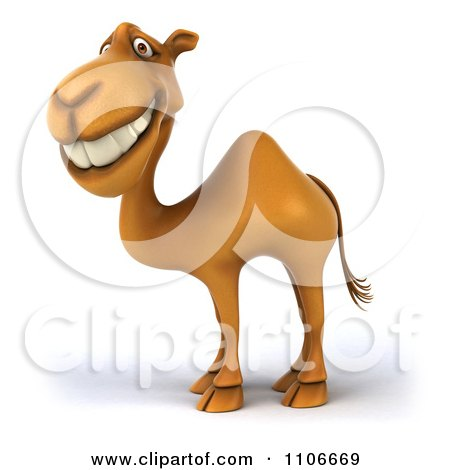 Clipart 3d Happy Camel - Royalty Free CGI Illustration by Julos