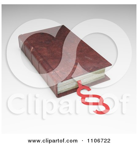 Clipart 3d Vintage Law And Legislation Book With A Law And Section Symbol - Royalty Free CGI Illustration by Mopic
