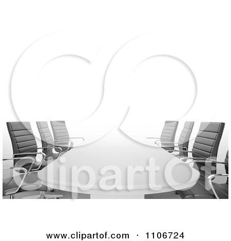 Clipart 3d Office Conference Room Table And Chairs - Royalty Free CGI Illustration by Mopic