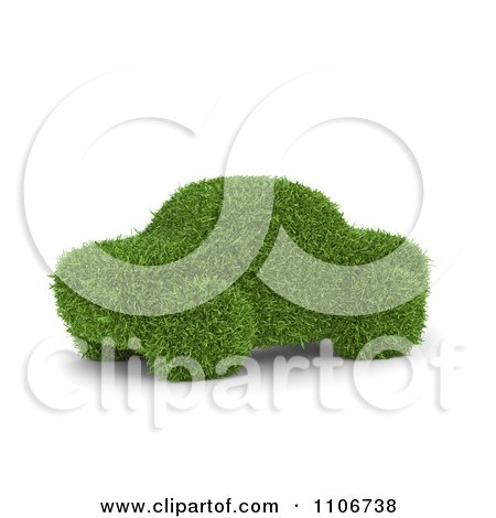 Clipart 3d Grass Car - Royalty Free CGI Illustration by Mopic