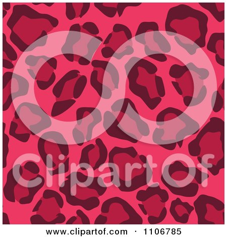 Clipart Seamless Pink Leopard Print Background Pattern 4 - Royalty Free Vector Illustration by Amanda Kate