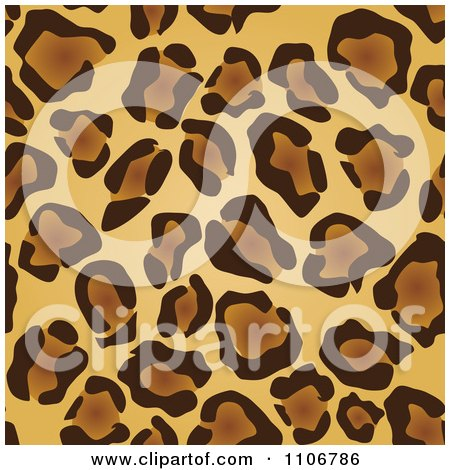Clipart Seamless Tan And Brown Leopard Print Background Pattern - Royalty Free Vector Illustration by Amanda Kate