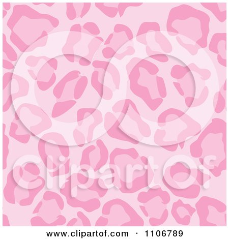 Clipart Seamless Pink Leopard Print Background Pattern 3 - Royalty Free Vector Illustration by Amanda Kate