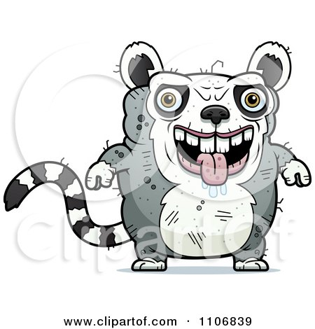 Clipart Ugly Lemur - Royalty Free Vector Illustration by Cory Thoman