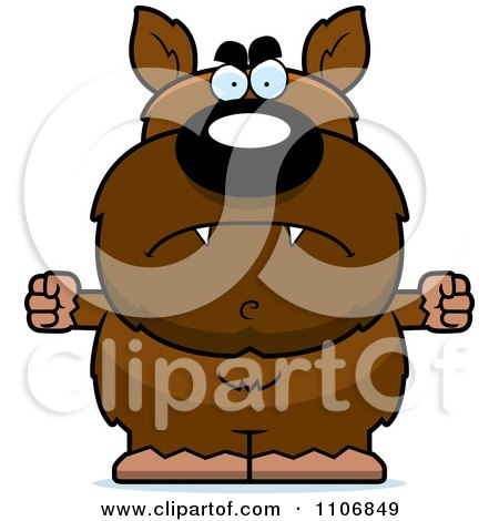 Clipart Angry Pudgy Werewolf - Royalty Free Vector Illustration by Cory Thoman
