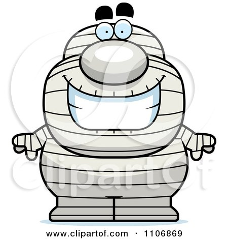 Clipart Happy Pudgy Mummy - Royalty Free Vector Illustration by Cory Thoman