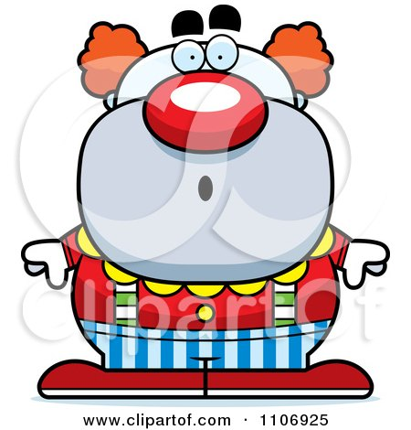 Clipart Surprised Pudgy Circus Clown - Royalty Free Vector Illustration by Cory Thoman