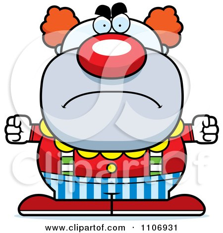 Clipart Angry Pudgy Circus Clown - Royalty Free Vector Illustration by Cory Thoman