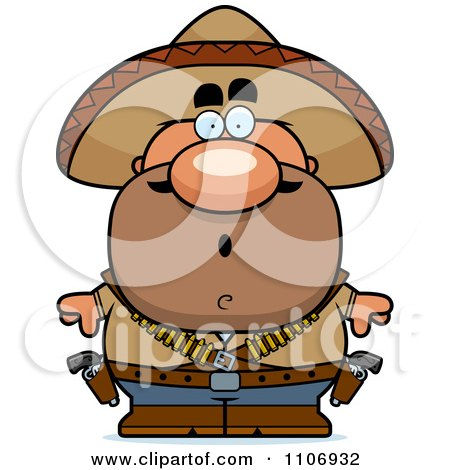 Clipart Surprised Hispanic Bandit - Royalty Free Vector Illustration by Cory Thoman