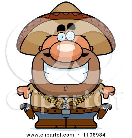 Clipart Happy Hispanic Bandit - Royalty Free Vector Illustration by Cory Thoman
