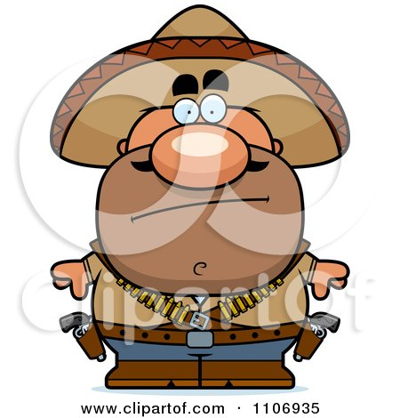 Clipart Calm Hispanic Bandit - Royalty Free Vector Illustration by Cory Thoman
