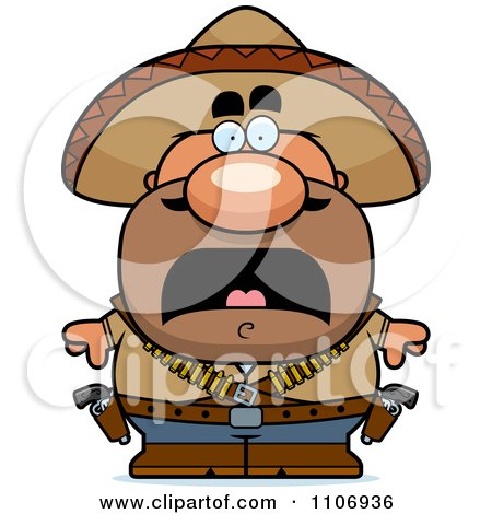 Clipart Scared Hispanic Bandit - Royalty Free Vector Illustration by Cory Thoman