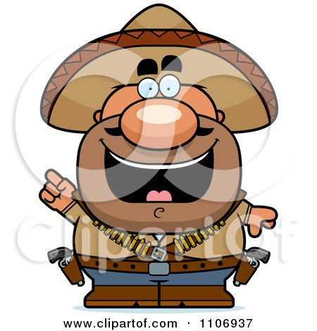 Clipart Hispanic Bandit With An Idea - Royalty Free Vector Illustration by Cory Thoman