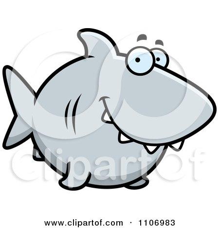 Clipart Happy Shark - Royalty Free Vector Illustration by Cory Thoman