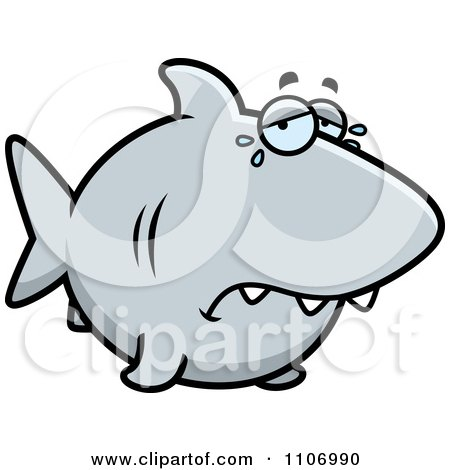 Clipart Crying Shark - Royalty Free Vector Illustration by Cory Thoman