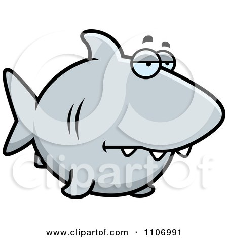 Clipart Sad Shark - Royalty Free Vector Illustration by Cory Thoman