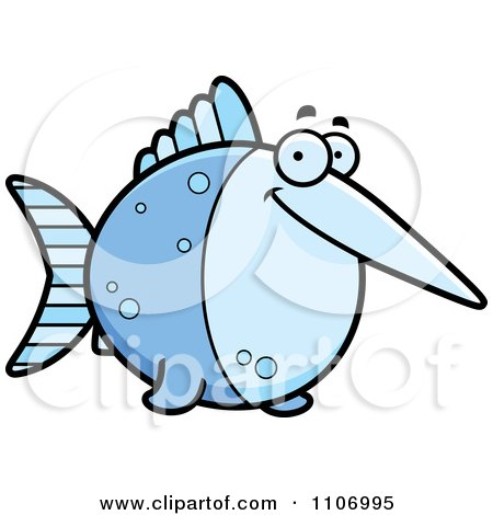 Clipart Happy Swordfish - Royalty Free Vector Illustration by Cory Thoman