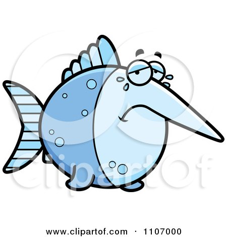 Clipart Crying Swordfish - Royalty Free Vector Illustration by Cory Thoman