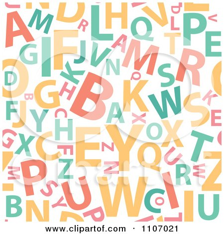 Clipart Seamless Alphabet Background Pattern - Royalty Free Vector Illustration by Amanda Kate