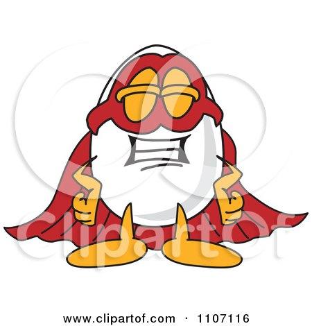 Clipart Egg Mascot Character Super Hero - Royalty Free Vector Illustration by Toons4Biz