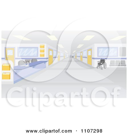 Clipart Deserted Hospital Interior - Royalty Free Vector Illustration by Amanda Kate