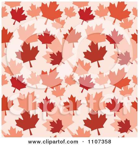 Clipart Seamless Autumn Maple Leaf Background Pattern - Royalty Free Vector Illustration by Amanda Kate