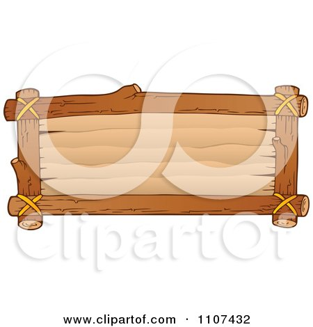Clipart  Rectangular Wooden Sign- Royalty Free Vector Illustration by visekart