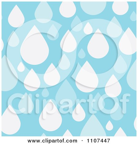 Clipart Seamless Blue Raindrop Water Background Pattern - Royalty Free Vector Illustration by Amanda Kate