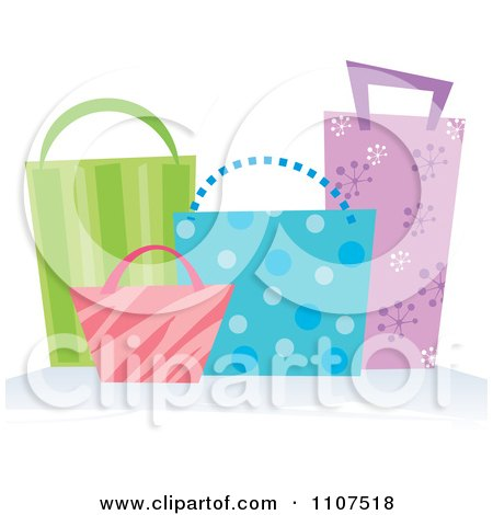 Clipart Colorful Shopping Or Gift Bags - Royalty Free Vector Illustration by Amanda Kate
