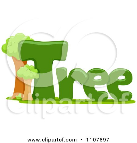 Clipart The Word Tree For Letter T - Royalty Free Vector Illustration by BNP Design Studio
