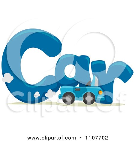 the word car for letter c posters art prints