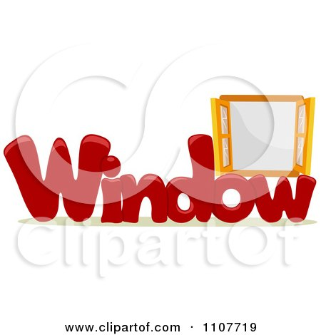 Clipart The Word Window For Letter w - Royalty Free Vector Illustration by BNP Design Studio