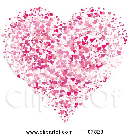 Clipart Pink With Hearts Forming A Larger Heart - Royalty Free Vector Illustration by BestVector