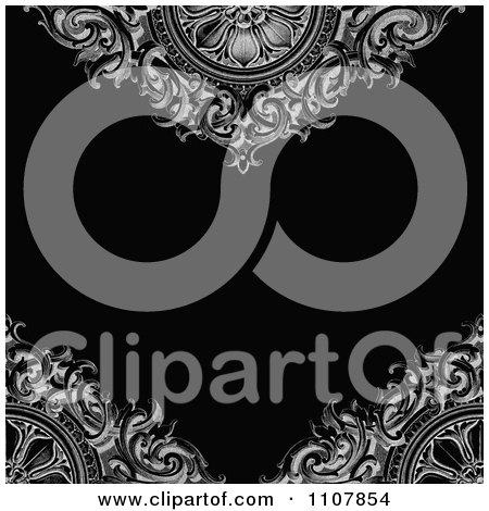 Clipart Victorian Background With Ornamental Designs And Copyspace - Royalty Free Vector Illustration by BestVector