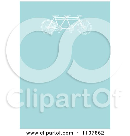 Clipart Vintage Tandem Bicycle On Blue - Royalty Free Vector Illustration by BestVector