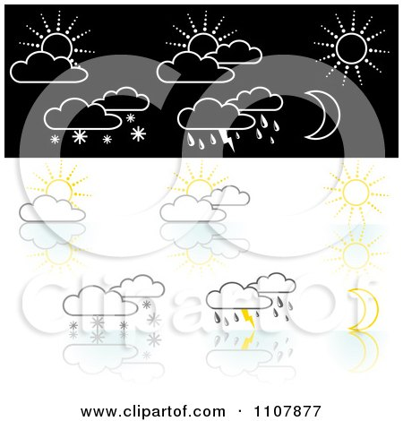 Clipart Weather Icons 2 - Royalty Free Vector Illustration by dero