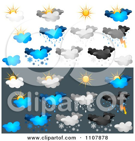 Clipart Weather Icons 3 - Royalty Free Vector Illustration by dero