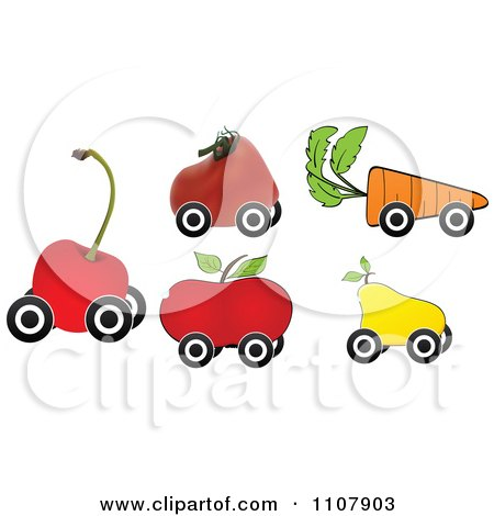 Clipart Produce Shaped - Royalty Free Vector Illustration by Andrei Marincas
