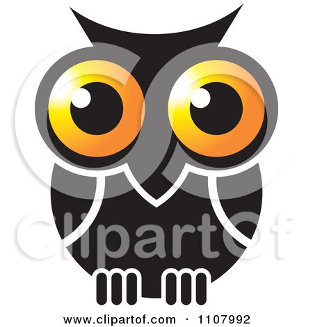 Clipart Gold And Black Owl - Royalty Free Vector Illustration by Lal Perera