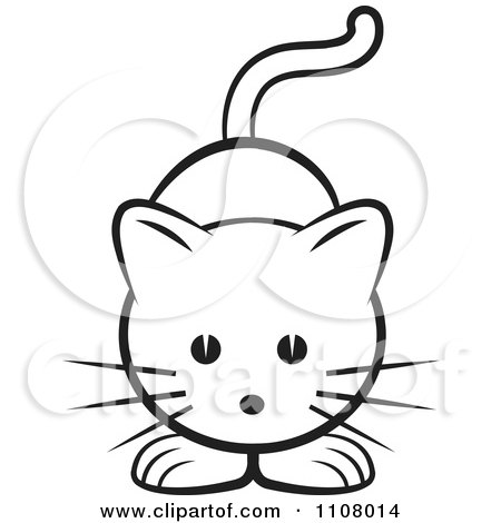 Cute Cat Clipart Black And White | Free download on ClipArtMag |Cute Caterpillar Clipart Black And White