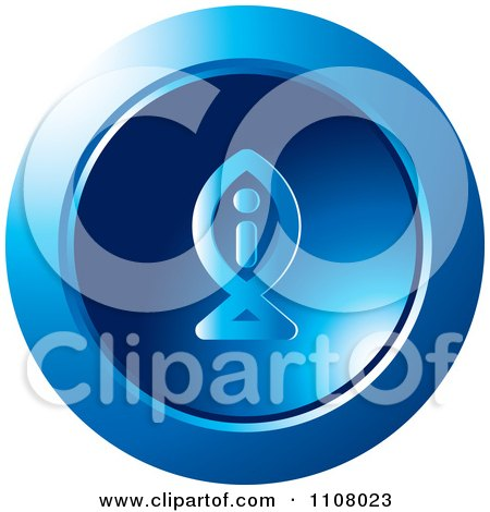 Clipart Round Blue Fish Information Icon - Royalty Free Vector Illustration by Lal Perera