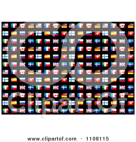 Clipart Seamless Flag Background Pattern On Black - Royalty Free Vector Illustration by Vector Tradition SM
