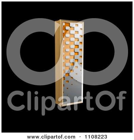 Clipart 3d Halftone Capital Letter I On Black - Royalty Free Illustration by chrisroll